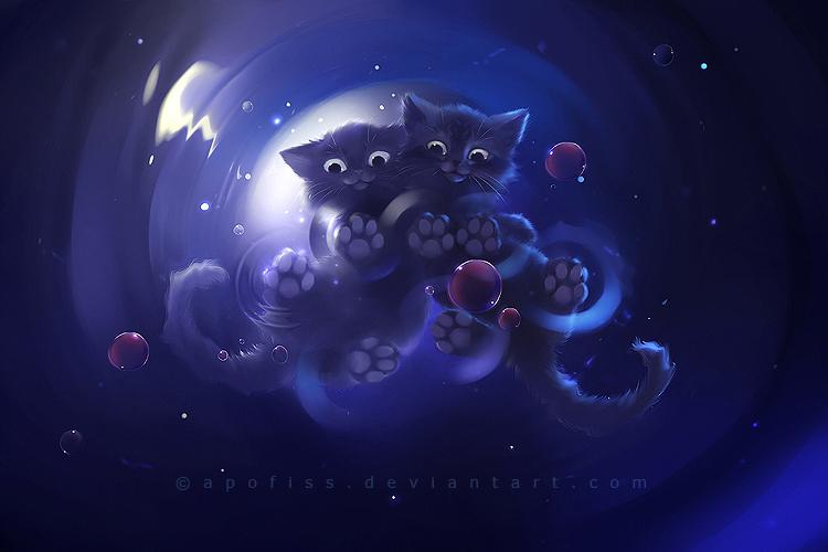 Аниме черная кошка картинки