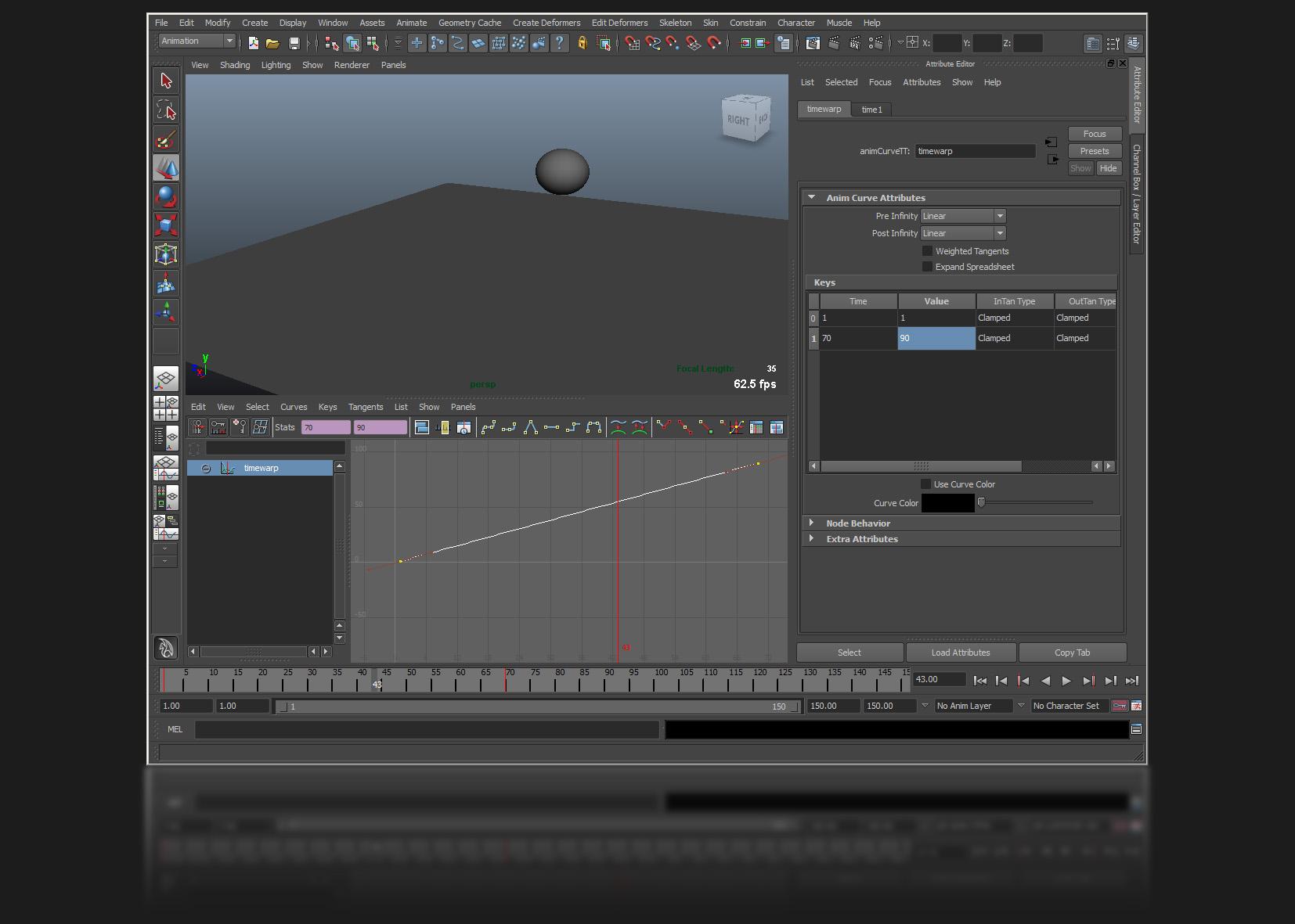 how to add elasticity on maya graph editor