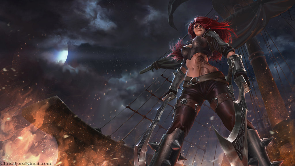 Katarina T. Korsakova {ID} League_of_legends__katarina_wp_by_chrisbjors-d78ruro