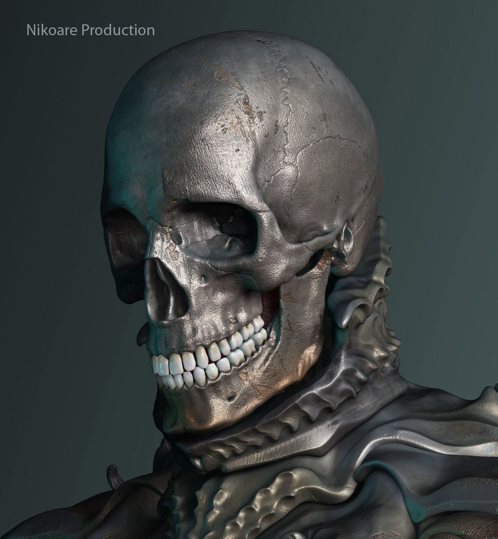 3dmax модели череп: