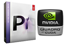 Adobe Premiere Pro CS5 boxshot with NVIDIA Quadro