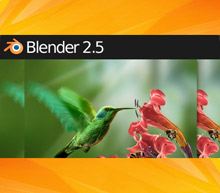 Blender 2.5 line header