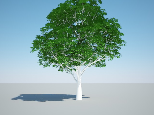 Деревья 3d vray
