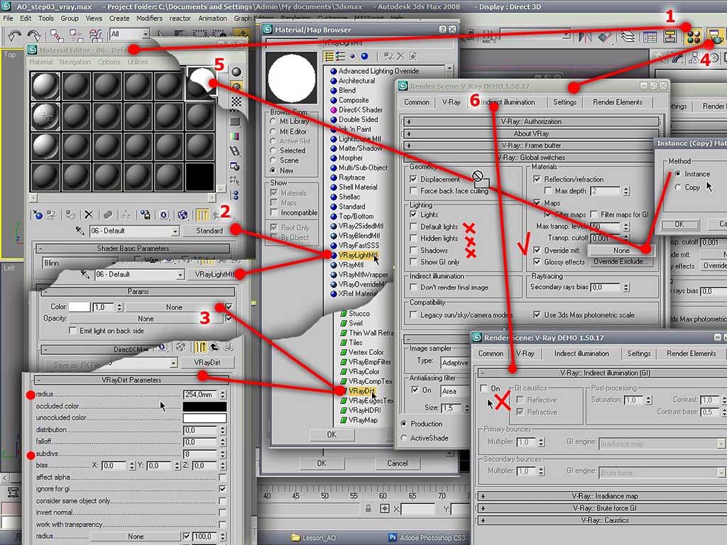 Как сделать тени в 3d max при рендере