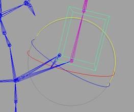 """Немного о настройке персонажей для анимации введение в mel  Добавим """"orient constraint"""" с контрольного объекта на кость Кость вращается вслед за контрольным объектом"""