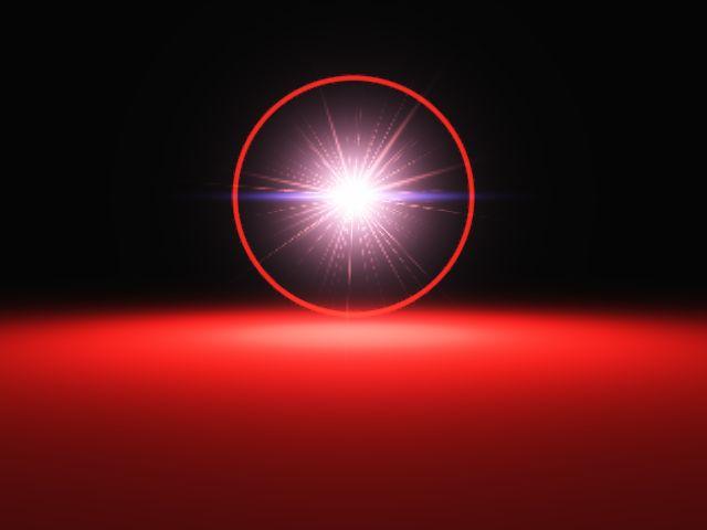 Как в фотошопе сделать световой луч